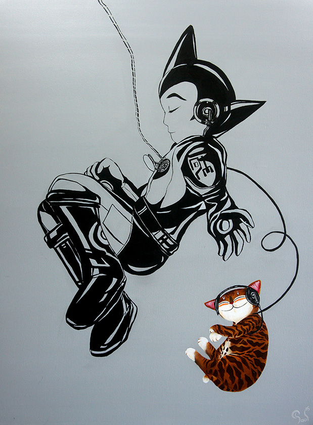 Singapore cat art, Recollection - Fix You