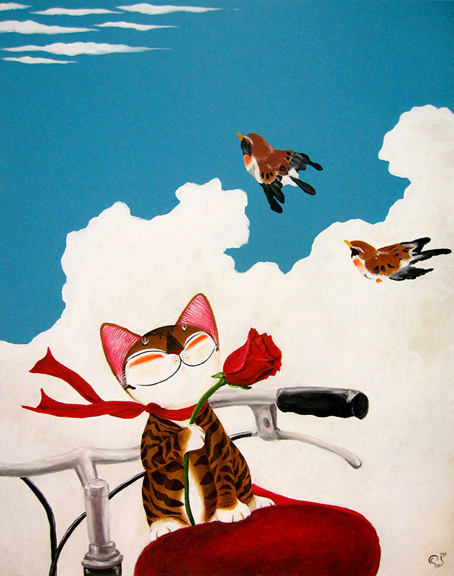 Singapore cat art, Come Fly Away With Me