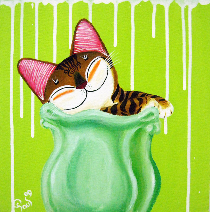 Singapore cat art, Kitty Green