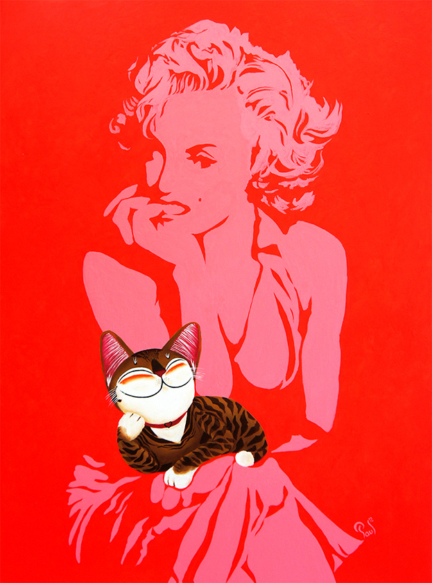 Singapore cat art, Marilyn
