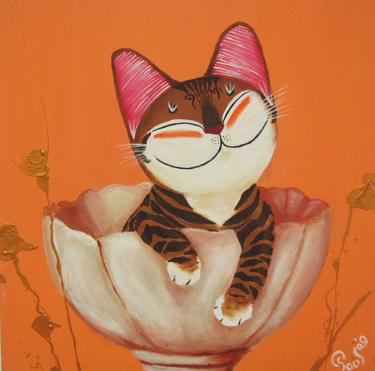 Singapore cat art, Kitty Orange