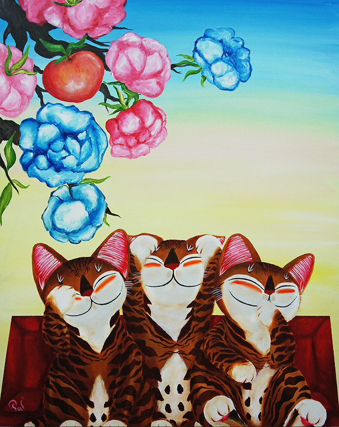 Singapore cat art, Sense and Sensibility