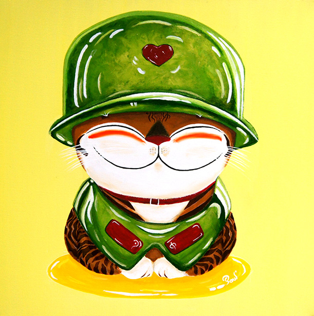 Singapore cat art, Soldier of Love