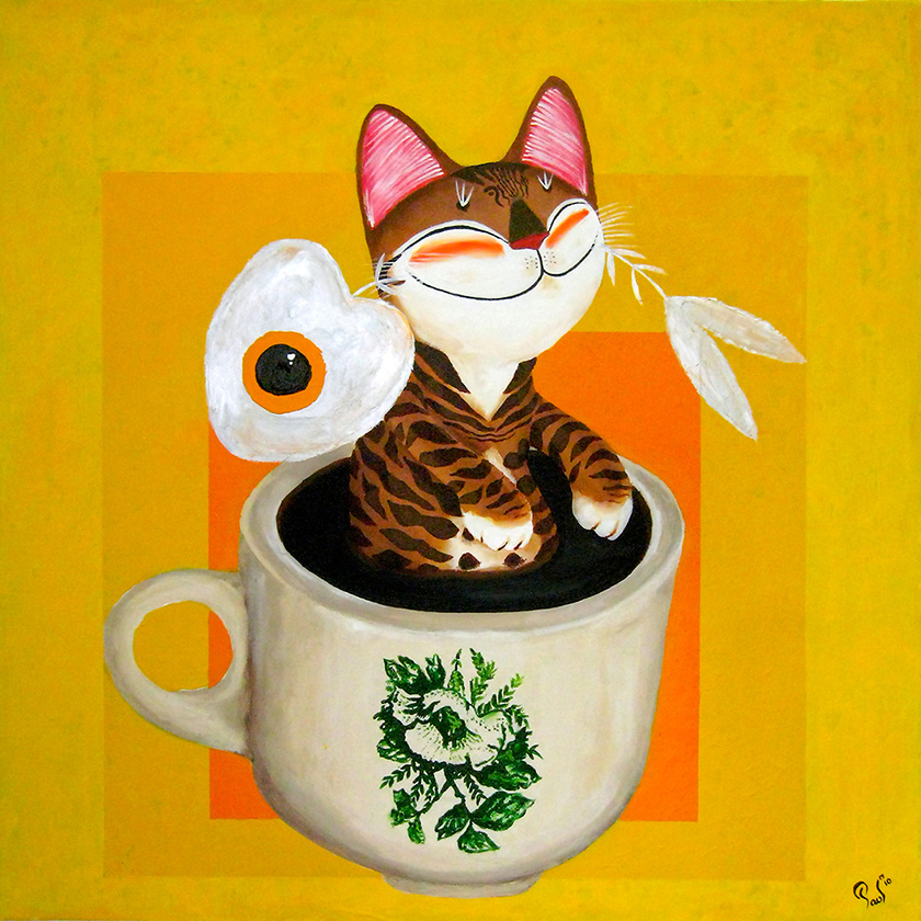 Singapore cat art, My Sunshine Addiction