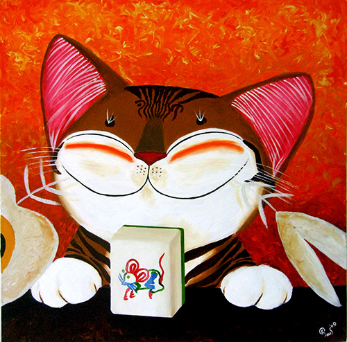 Singapore cat art, The Winning Tile