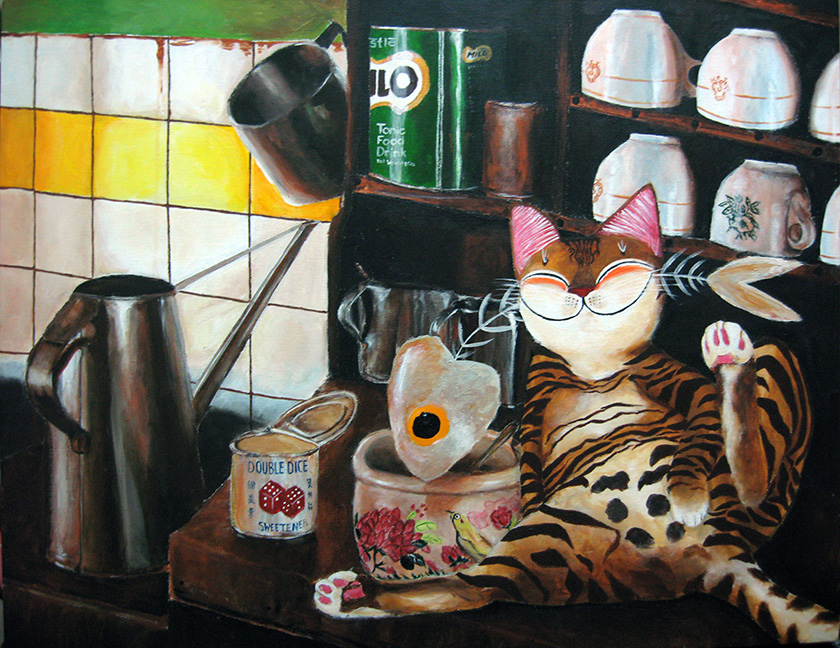 Singapore cat art, Once Upon a Kopitiam